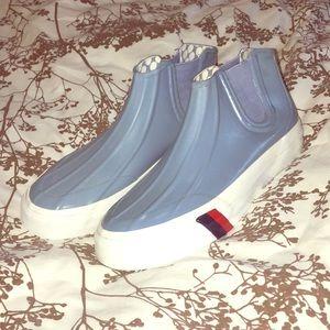 Women's Periwinkle Blue Pro Keds rain shoe